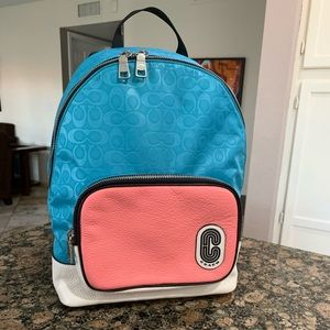Coach Bags - COURT BACKPACK IN SIGNATURE NYLON WITH COACH PATCH